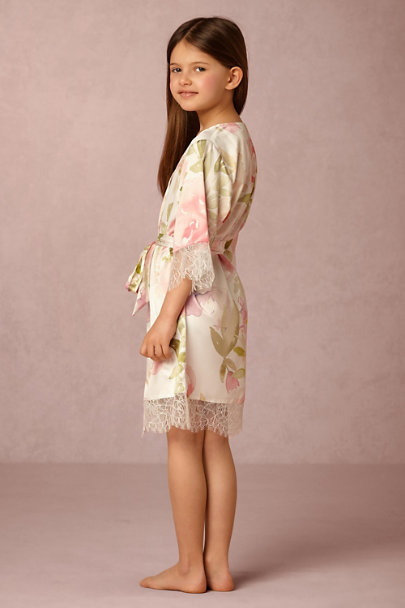 Homebodii Pink/Rose Garden Girl Robe | BHLDN