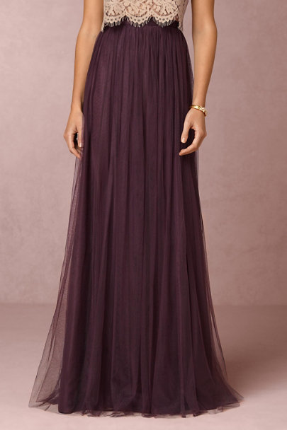Jenny Yoo Antique Orchid Louise Tulle Skirt  | BHLDN