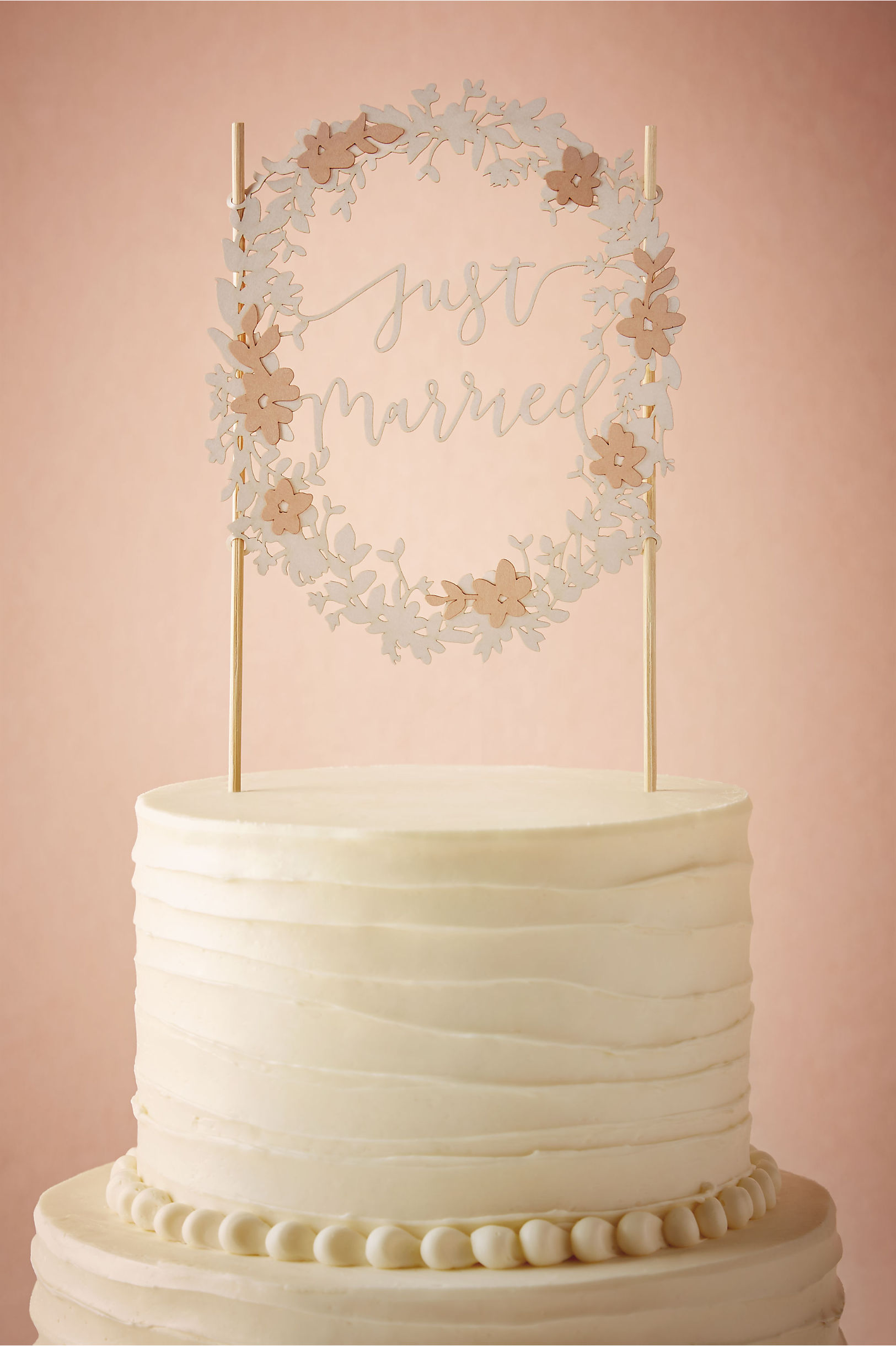 Just Married Cake Topper in Sale