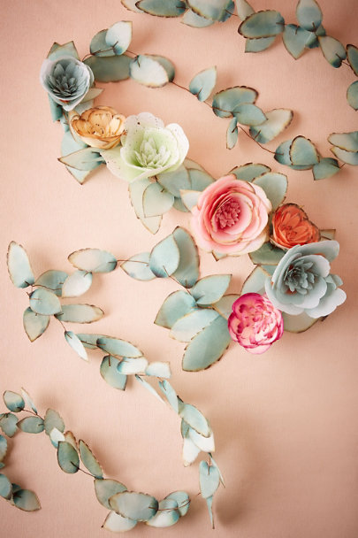 Green Flowerage Garland | BHLDN