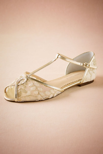 View larger image of Bella Belle Maisie Embroidered T-Strap Flats