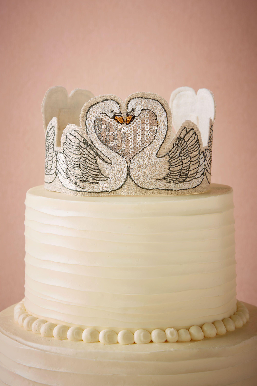 Smitten Swans Cake Topper