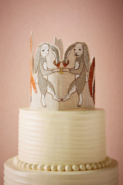 Neutral Foxtrot Cake Topper | BHLDN