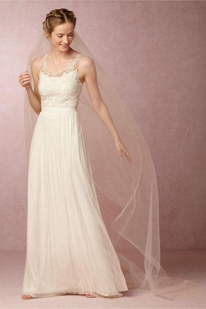 Paris by Debra Moreland Candlelight Triolet Cathedral Veil | BHLDN