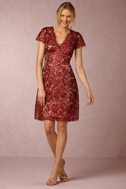 Wine Elaine Dress | BHLDN