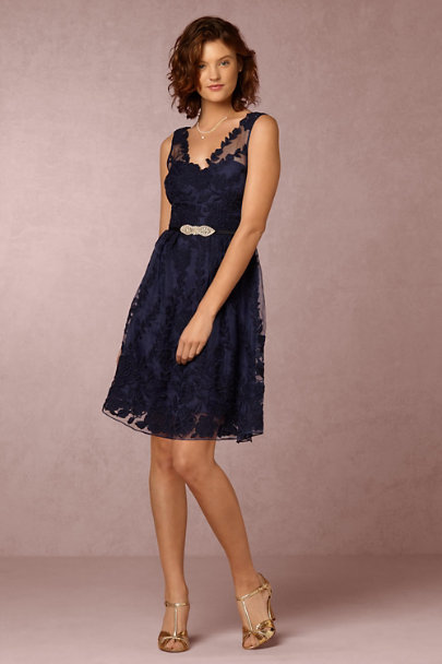 Yoana Baraschi Navy Ersalina Dress | BHLDN