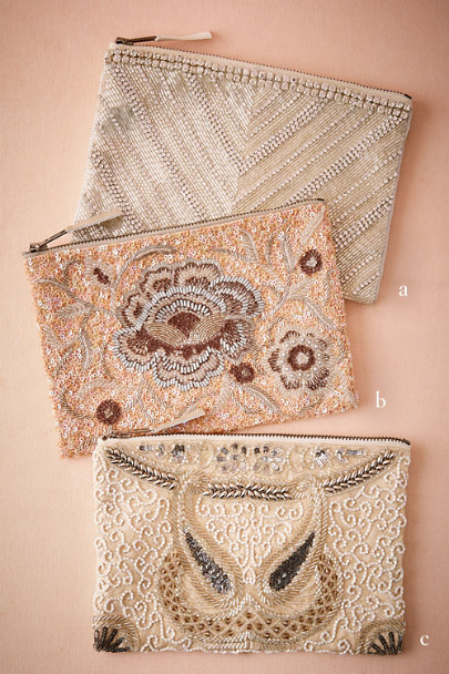 C Santal Beaded Pouch | BHLDN