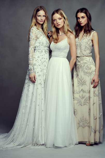 Wedding dresses with black beading thread