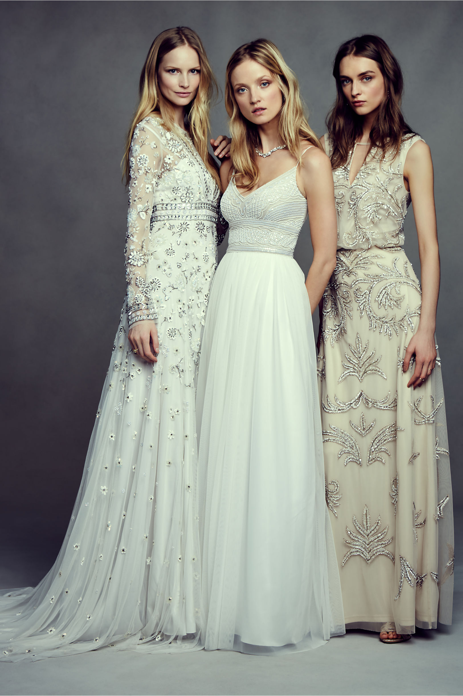 Needle Thread Ivory Tabitha Gown Bhldn
