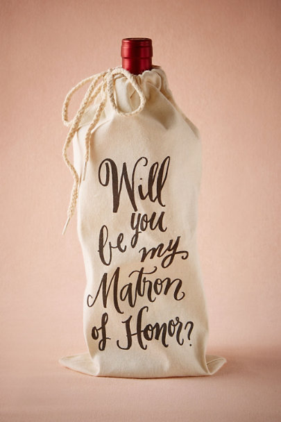 White Matron of Honor Wine Bag | BHLDN