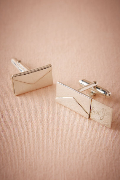 Silver Love Letter Cufflinks | BHLDN