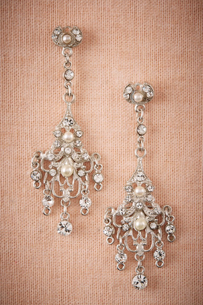 Paris by Debra Moreland Silver Eila Chandelier Earrings | BHLDN