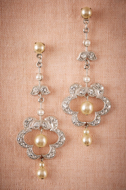 Debra Moreland Silver Clover Chandelier Earrings | BHLDN