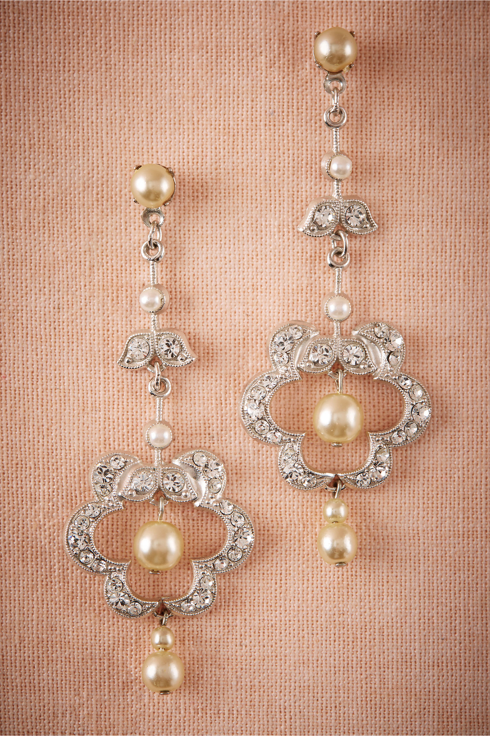 Clover chandelier earrings in sale bhldn paris by debra moreland silver clover chandelier earrings bhldn arubaitofo Choice Image