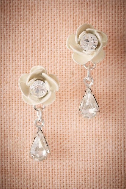 Debra Moreland Silver Petite Blossom Earrings | BHLDN