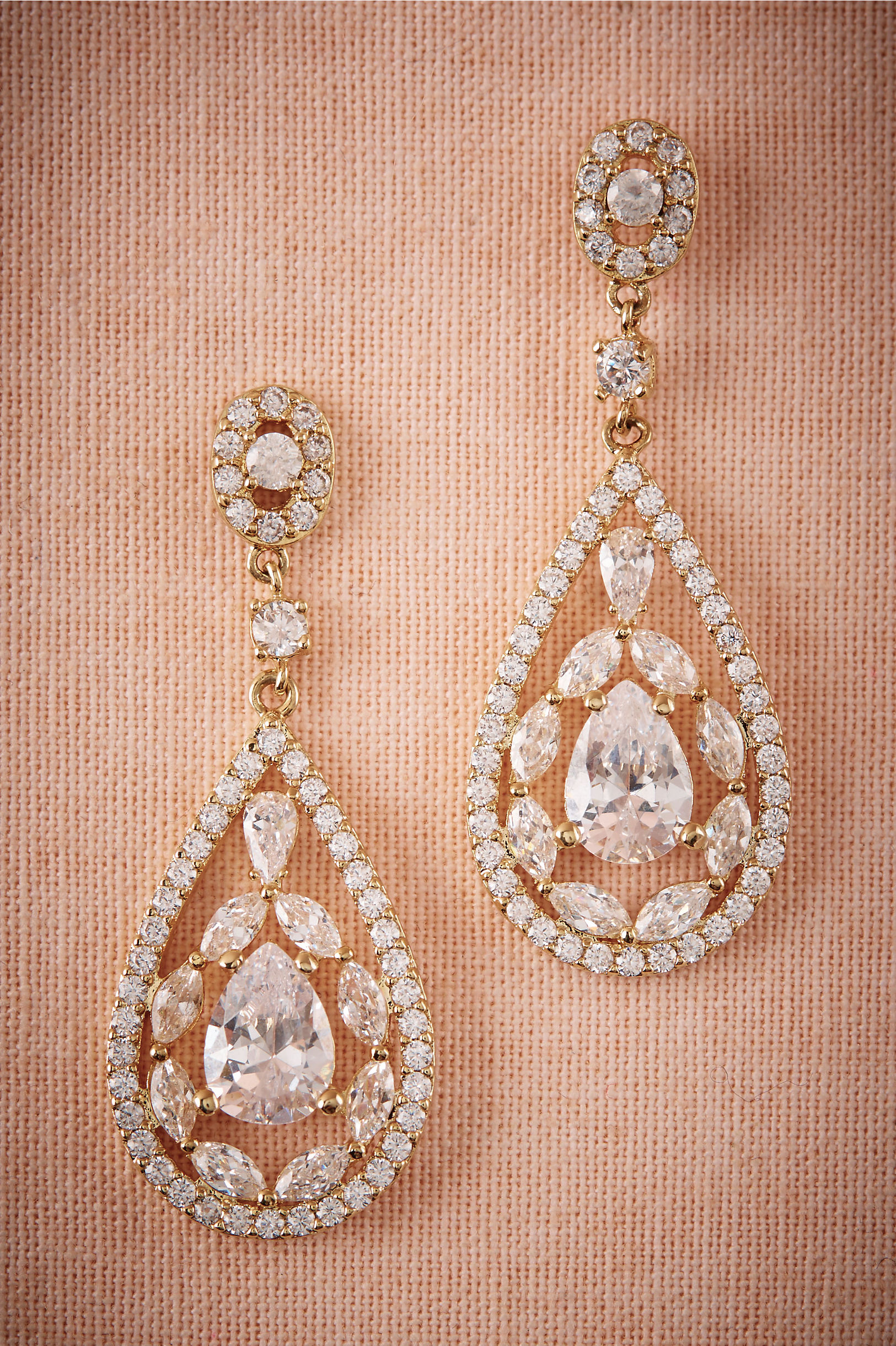 Astoria Chandelier Earrings Gold in Sale | BHLDN