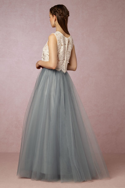 Alexandra Grecco Dusty Blue Gretta Skirt | BHLDN