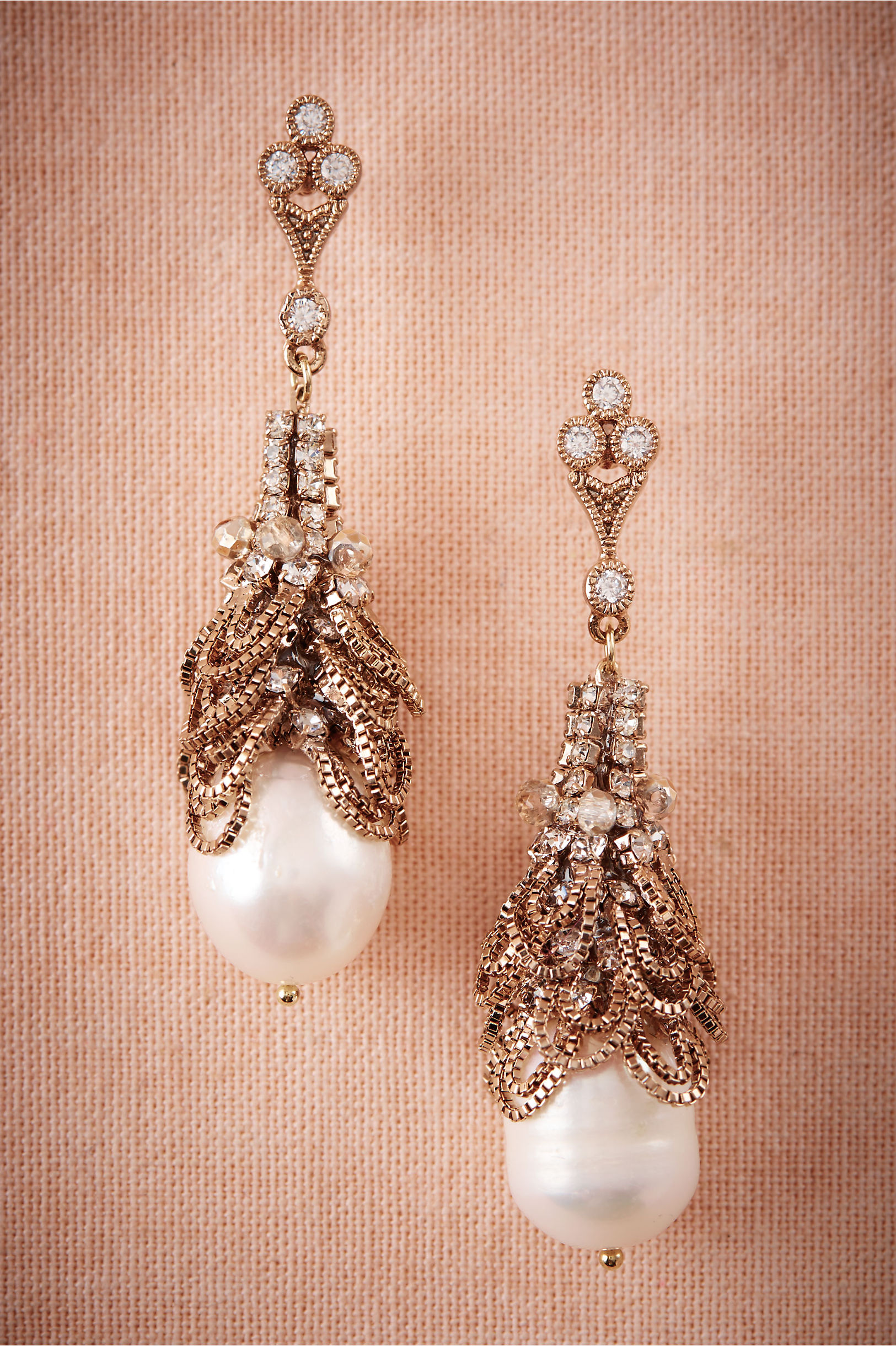 Theia Jewelry Gold Ura Crystal Chandelier Earrings Bhldn