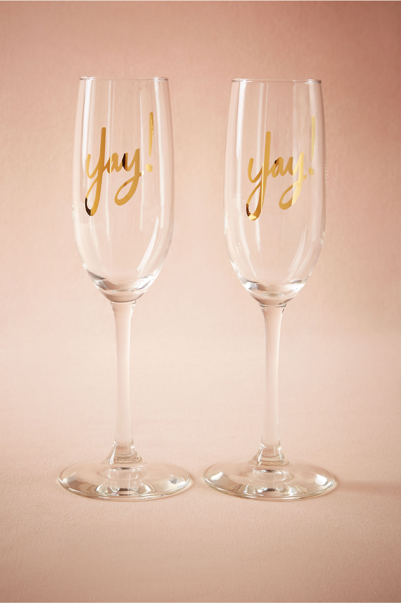 Yay Champagne Flutes 2 in Sale