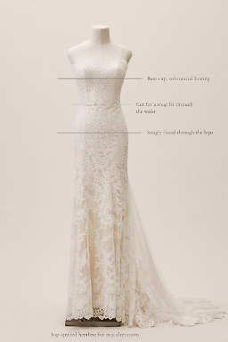 Strapless wedding dresses gowns bhldn for What to wear under strapless wedding dress