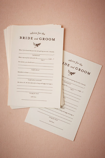 Cream Advice for the Bride & Groom Notes (10) | BHLDN