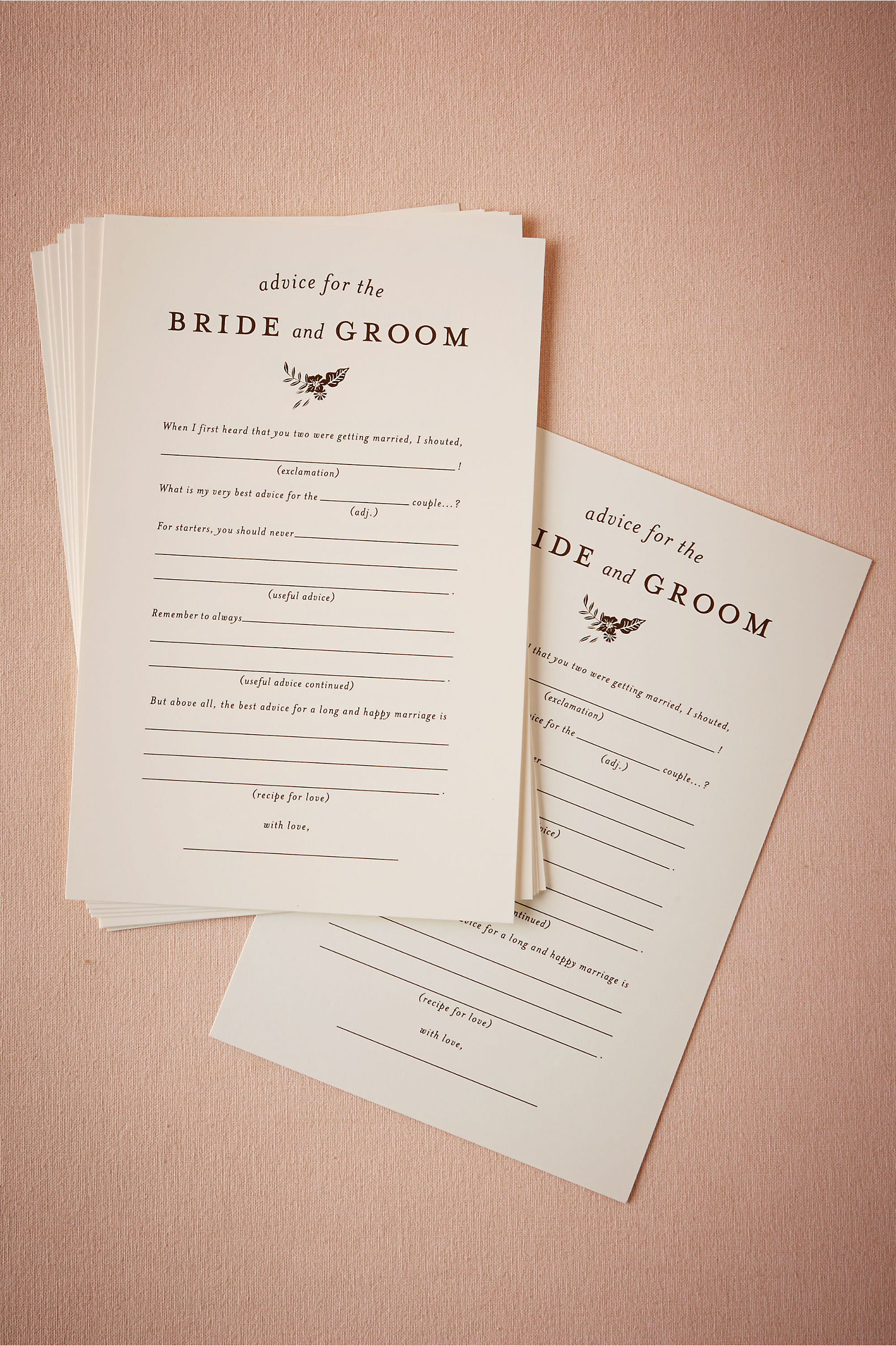 Cream Advice For The Bride Groom Notes 10 Bhldn