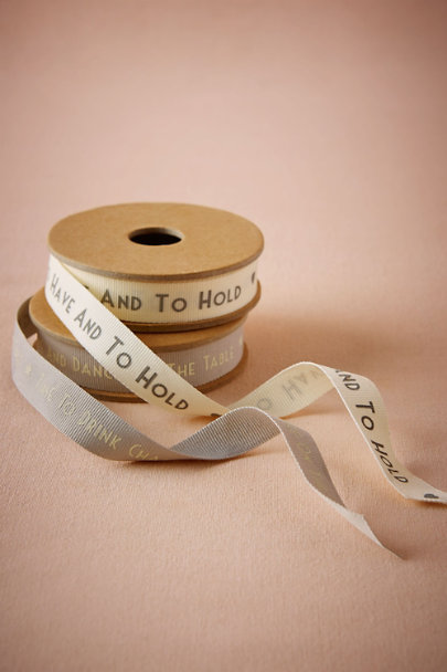 To Have And To Hold Sentiments Ribbon | BHLDN