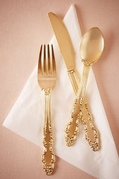Gold Aurelian Utensil Set  | BHLDN