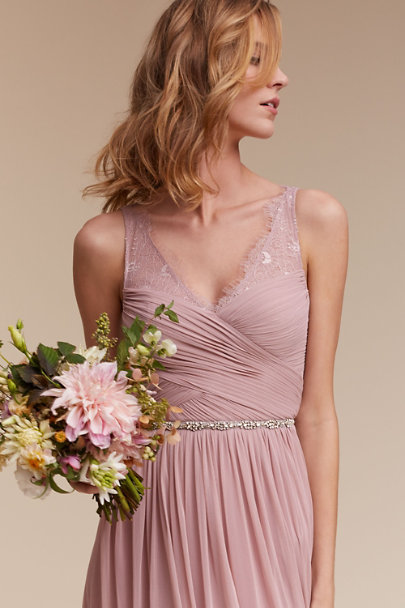 Moyna Rose Frostlight Grosgrain Sash | BHLDN
