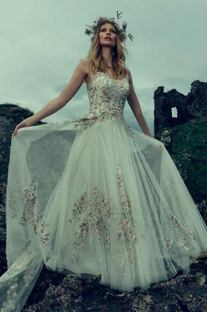 Watters Ivory Heidi Gown Bhldn