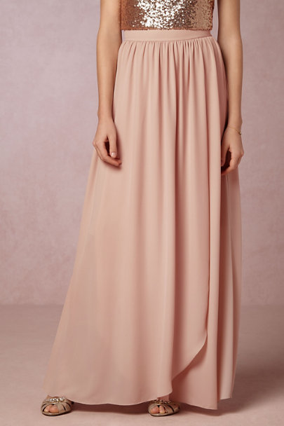 Hitherto Taupe Pink Jane Skirt | BHLDN