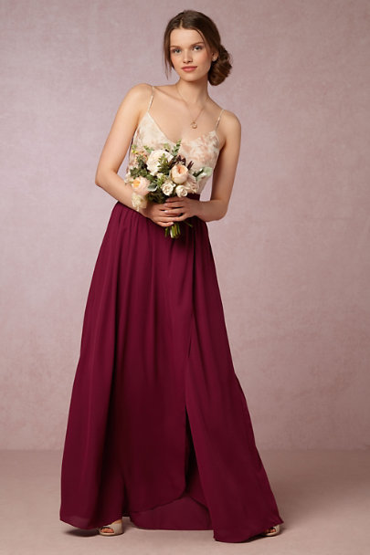 Hitherto Black Cherry Jane Skirt | BHLDN