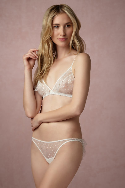 Only Hearts Creme Mireille Knickers | BHLDN