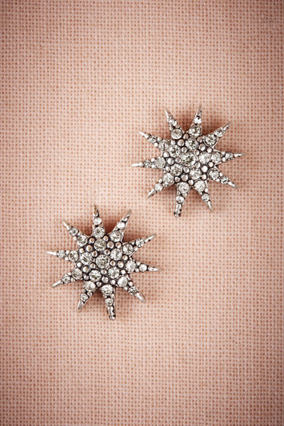 Lulu Frost Silver Electra Burst Earrings | BHLDN