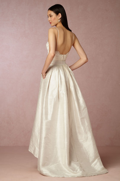 Elizabeth Fillmore Ivory Bellamy Skirt | BHLDN