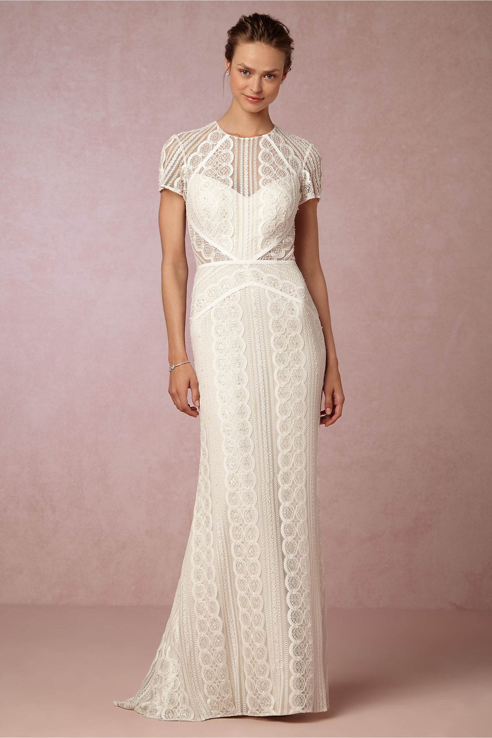 Monica Gown Ivory/Oyster in Bride | BHLDN
