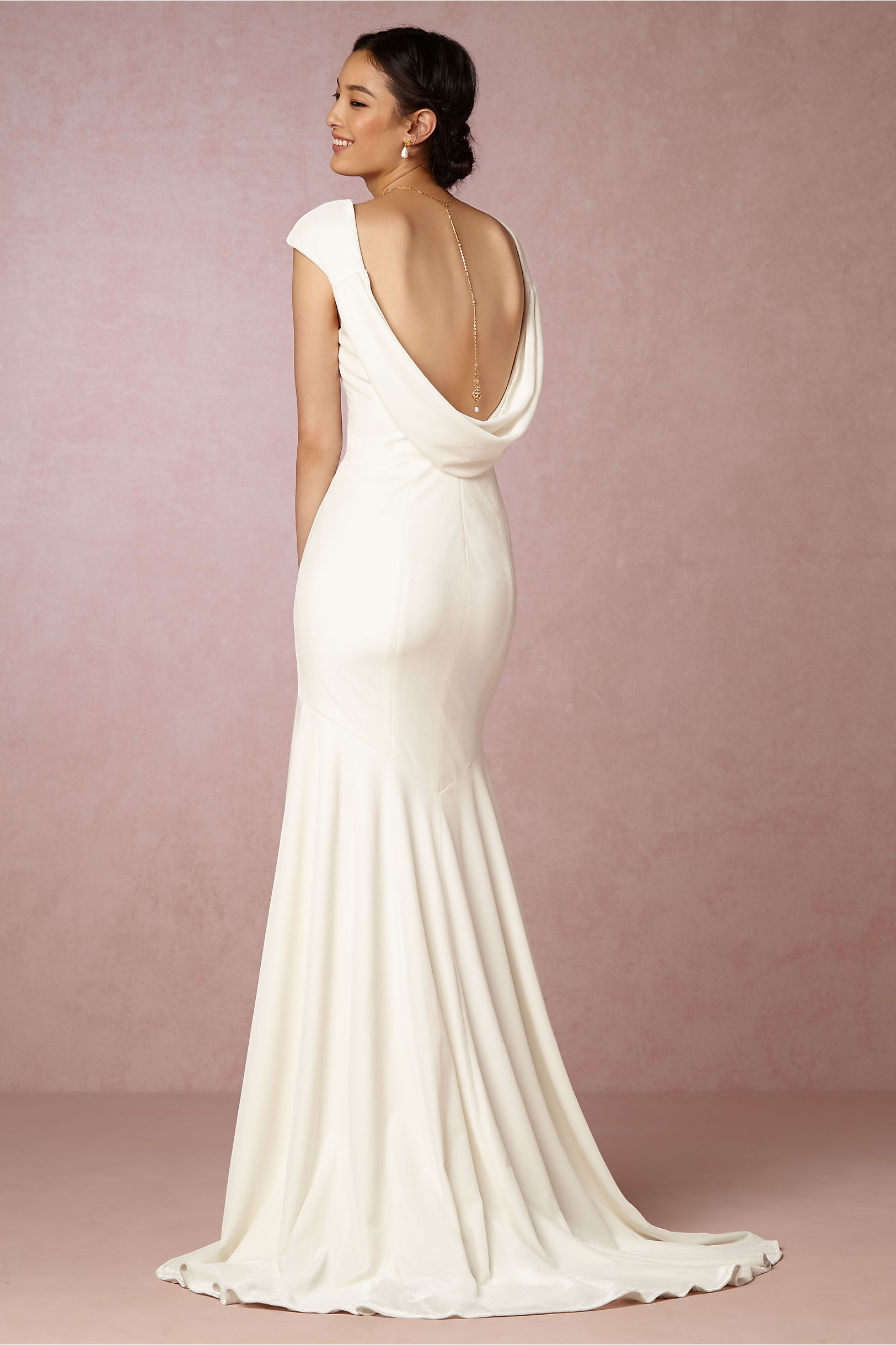 Theia Bridal Ivory Ingrid Velvet Gown Bhldn