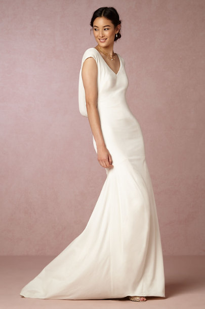 Ingrid Velvet Gown in Bride | BHLDN