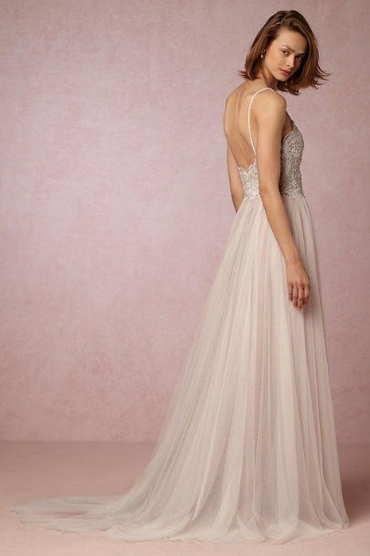 Watters Latte/Smoke Nina Gown | BHLDN