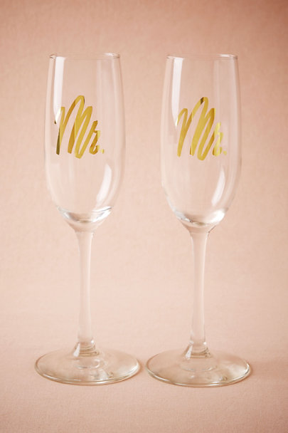 Mr/Mr Mr. & Mrs. Champagne Flutes (2) | BHLDN