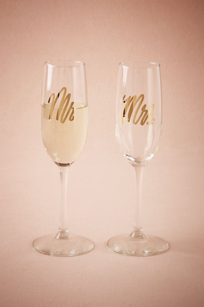 Mr/Mrs Mr. & Mrs. Champagne Flutes (2) | BHLDN