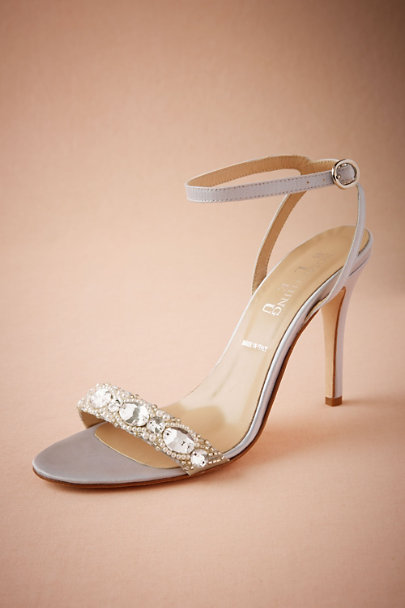Something Bleu Silver Charlize Heel | BHLDN