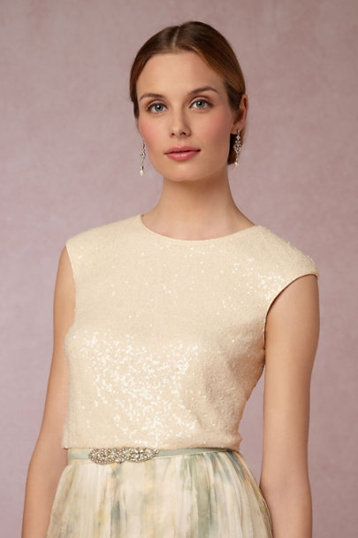 Jenny Yoo French Vanilla Kaity Top | BHLDN