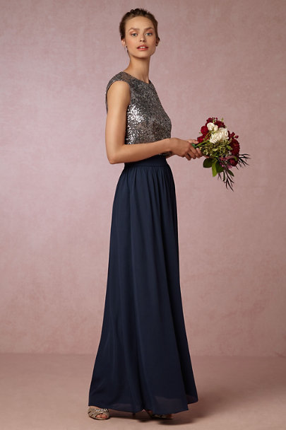 Jenny Yoo Charcoal Kaity Top | BHLDN