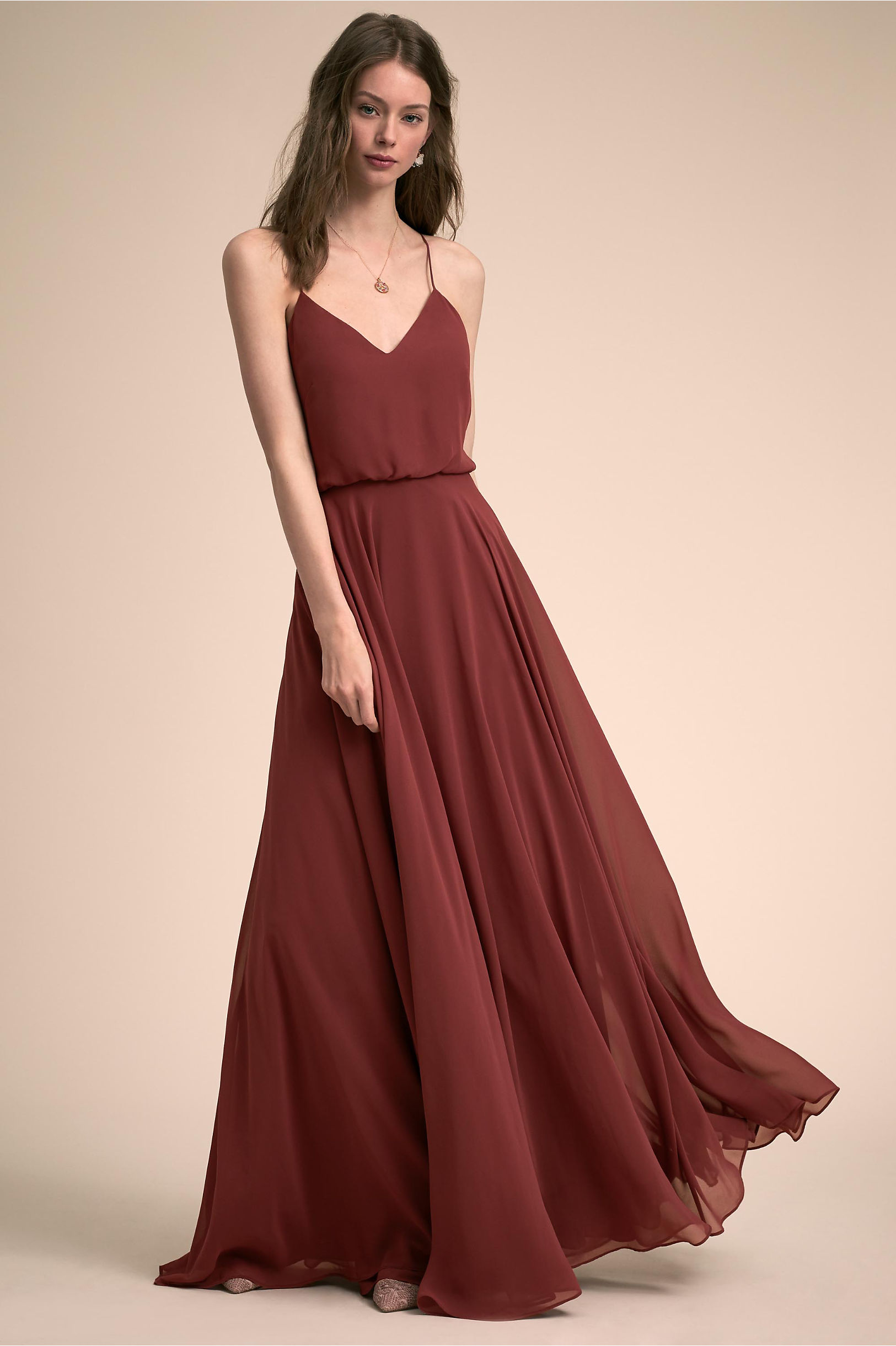 Inesse dress cinnamon rose in bridal party bhldn cinnamon rose inesse dress bhldn ombrellifo Images