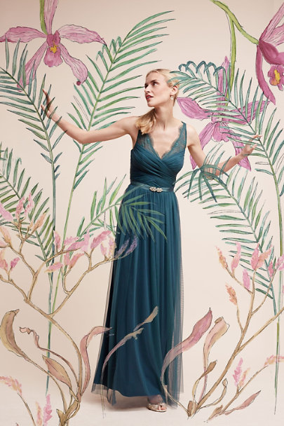 Hitherto Dusty Emerald Fleur Dress | BHLDN