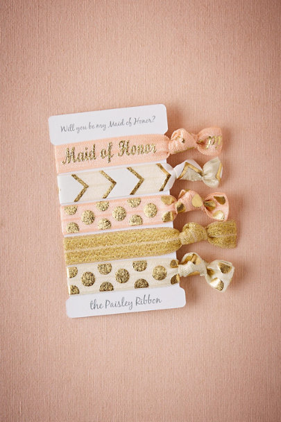 Maid of Honor Be My Maids Hair Ties (5) | BHLDN