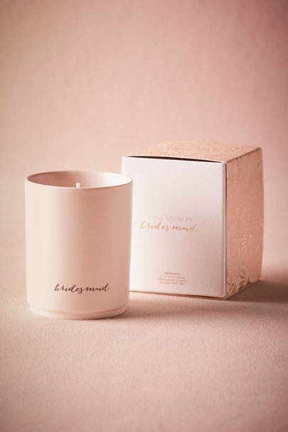 Bridesmaid Be My Maids Candle | BHLDN