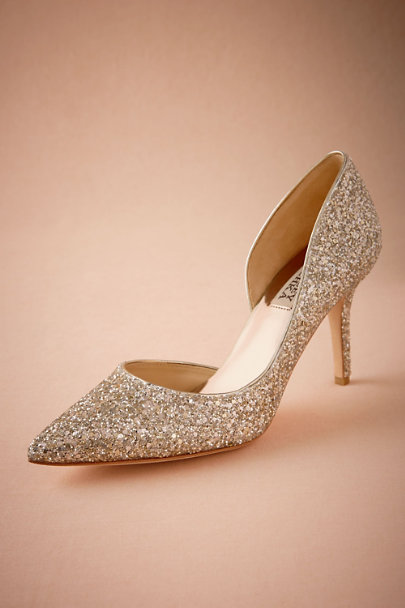Badgley Mischka Gold Gelina Heel | BHLDN
