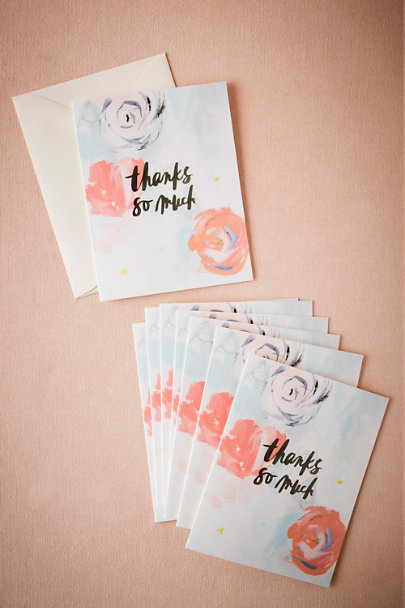 Rose Waterflorals Thank You Cards (8) | BHLDN